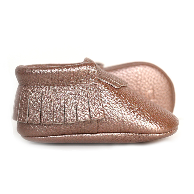 ROSE GOLD - BABY MOCCASINS | SWEETNSWAG